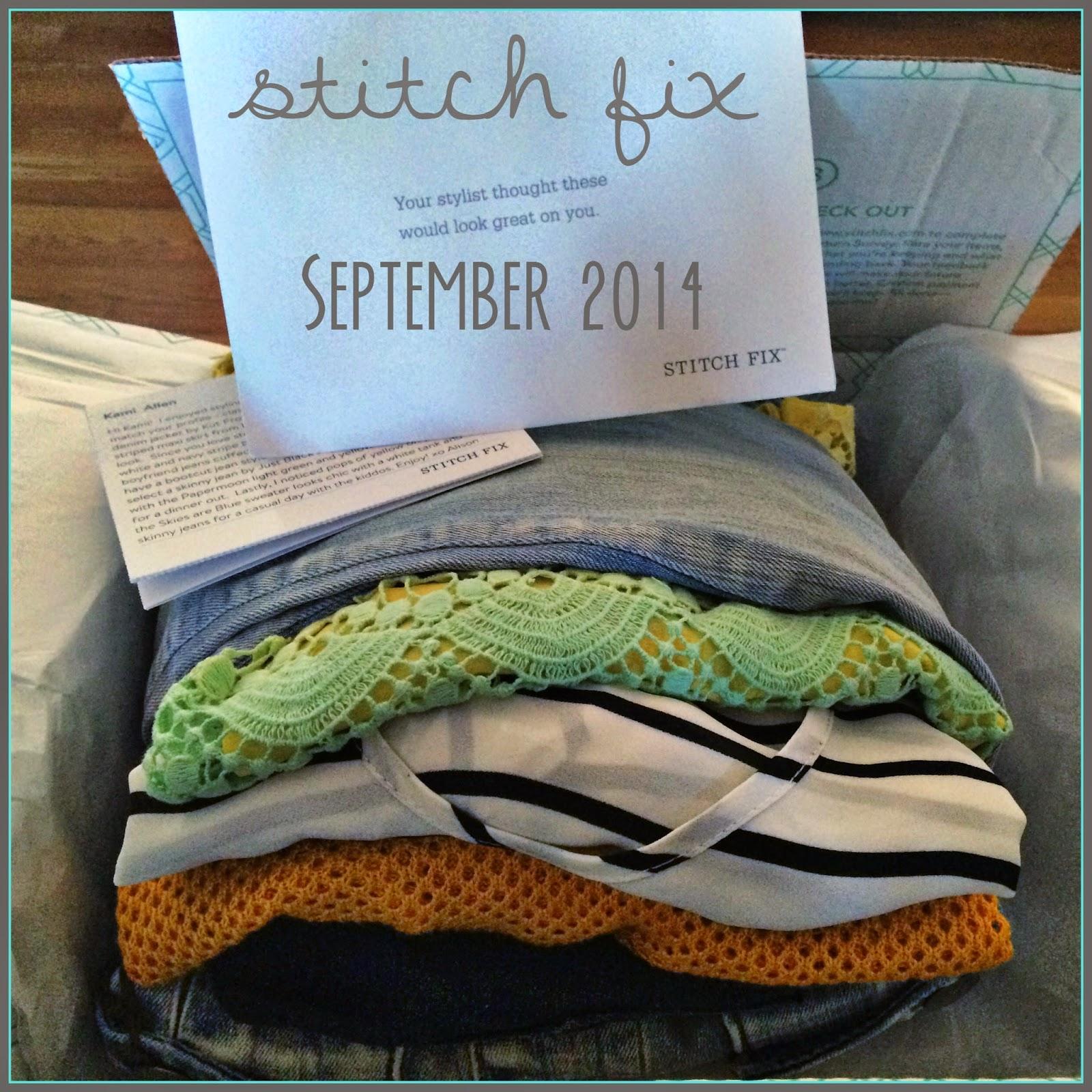 #stitchfix september 2014
