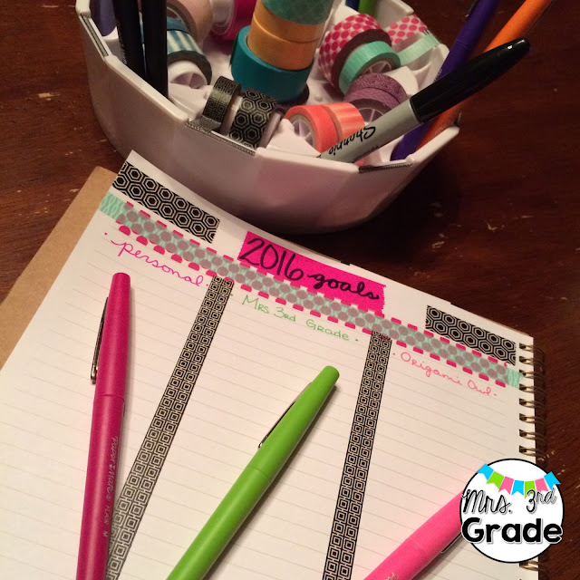 Setting goals and writing them down is a great way to keep yourself accountable for your goals!