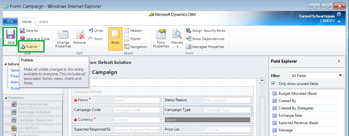 how to use javascript in html web resource dynamics crm