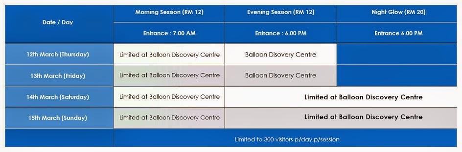 Putrajaya International Hot Air Balloon Fiesta 2015 Ticket Price