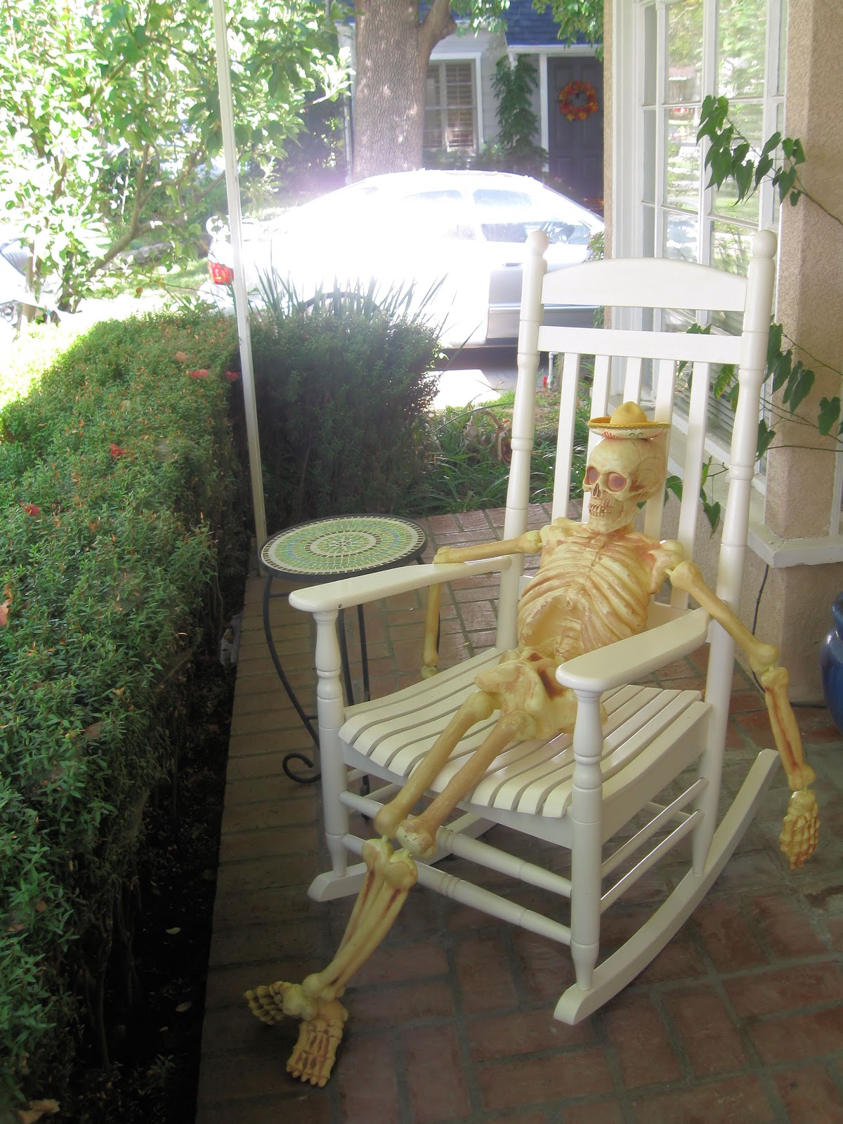 this is the crown jewel of my halloween decorations cache last year i was desperate for a skeleton but i only saw skeletons for 60 or more