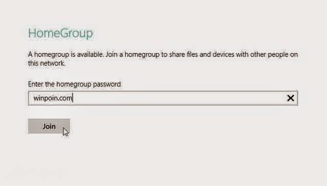 Cara Join HomeGroup di Windows 8 Melalui PC Setting dan Control Panel