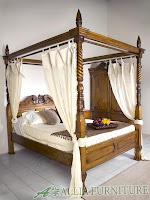 Tempat Tidur model klasik dan antik