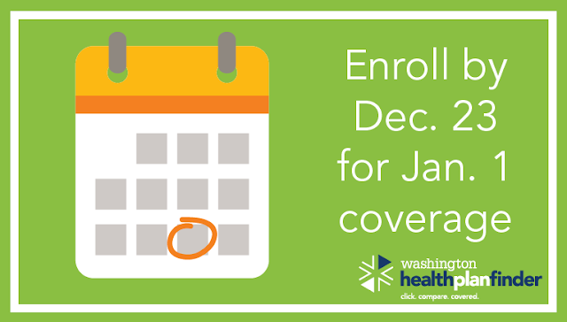 Wednesday is the deadline to get a health plan for Jan. 1