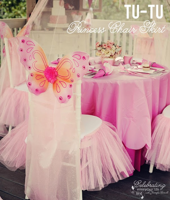 Cute chairs for Fairies Party.