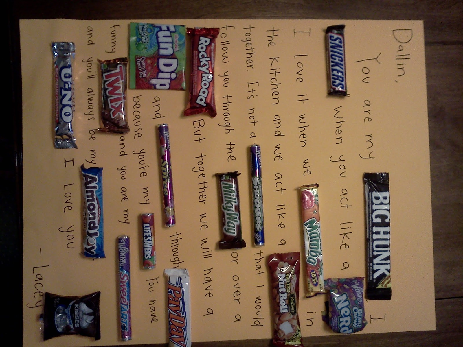Birthday Card Using Candy Bars