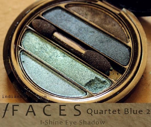 Faces I-Shine Eye Shadow Quartet Blue 2 Review