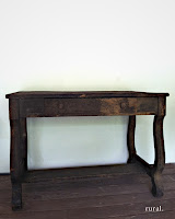 rustic brown table