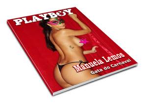 Confiras as fotos da gata do carnaval, Manuela Lemos, capa da playboy Especial de fevereiro de 2009!