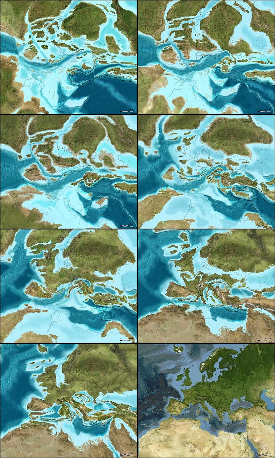 Evolución Paleogeográfica de Europa