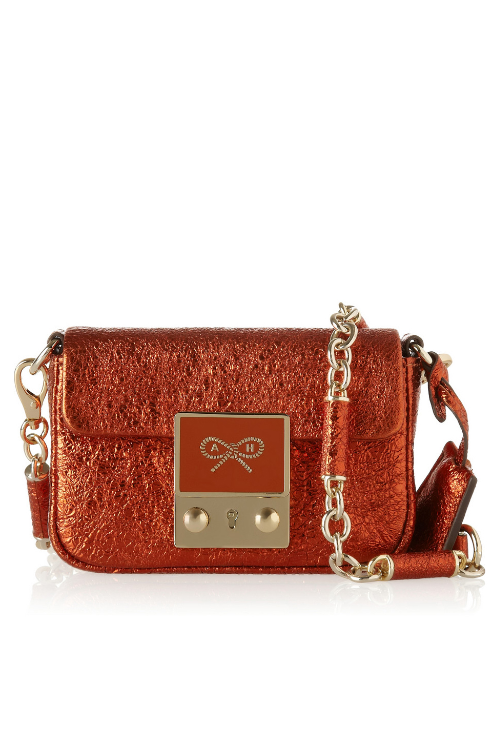 via fashioned by love | Anya Hindmarch Tiny Tim red shoulder bag