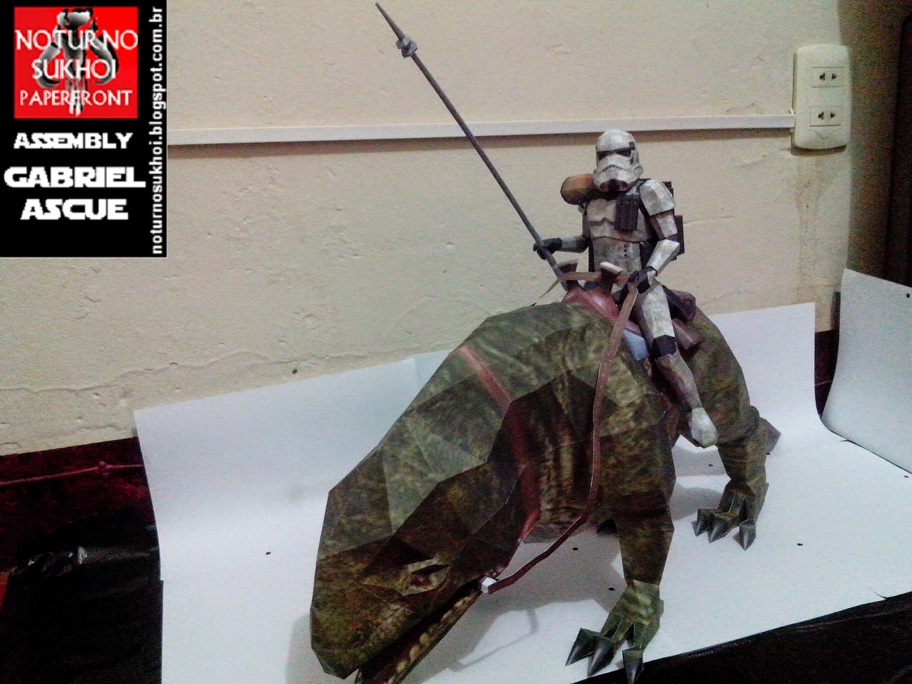 Star Wars Dewback Trooper Papercraft