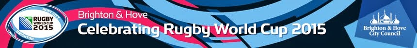 Brighton and Hove celebrates in the lead up to Rugby World Cup 2015