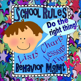 School Rules - Lists, Charts, Lessons