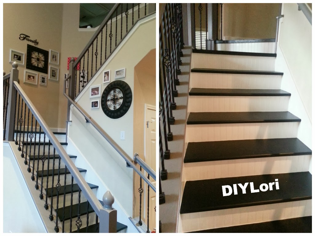 Diy staircase makeover for Diy staircase makeover