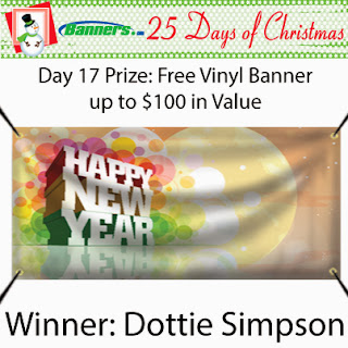 Banners.com 25 Days of Christmas Giveaway - Day 17 Winner