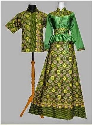 Gambar Gamis Modern Batik Kombinasi