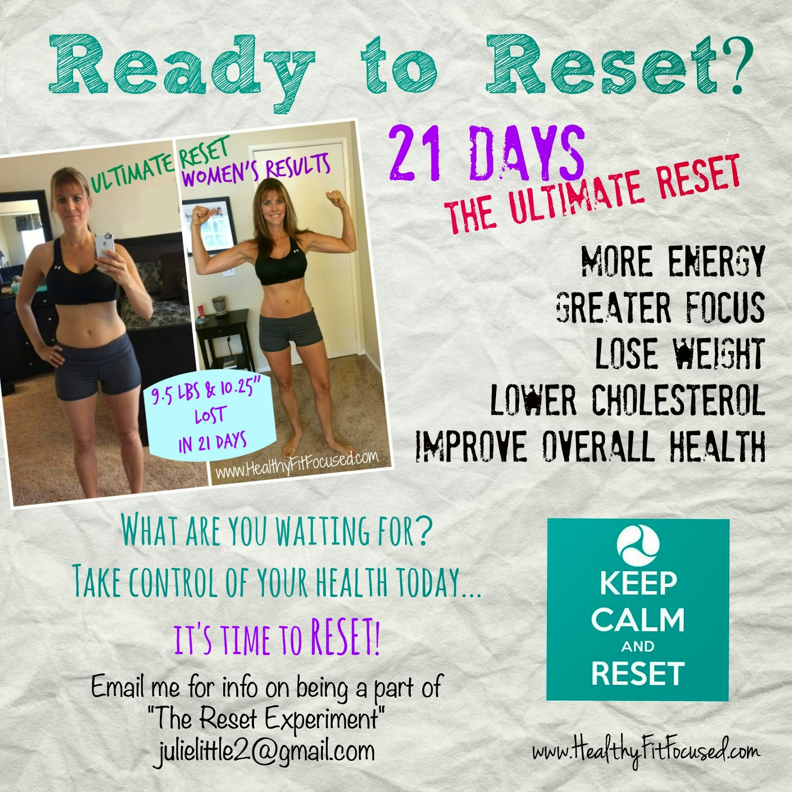 Ready to Reset?  Ultimate Reset Experiment, Support, Motivation