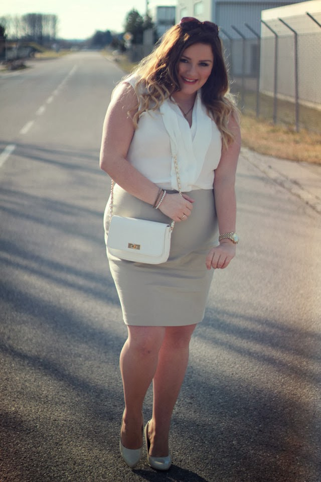 Plus Size Outfit – Mango Violeta