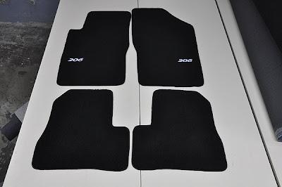 A j designs cubre alfombras peugeot 206 - Alfombras peugeot 206 ...