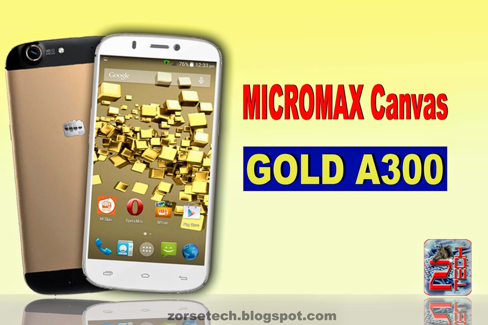 Micromax launched theri new smartphone canvas gold a300