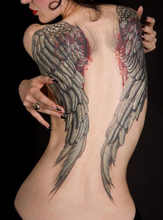 Home » Angel Tattoos » Angel With Broken Wings