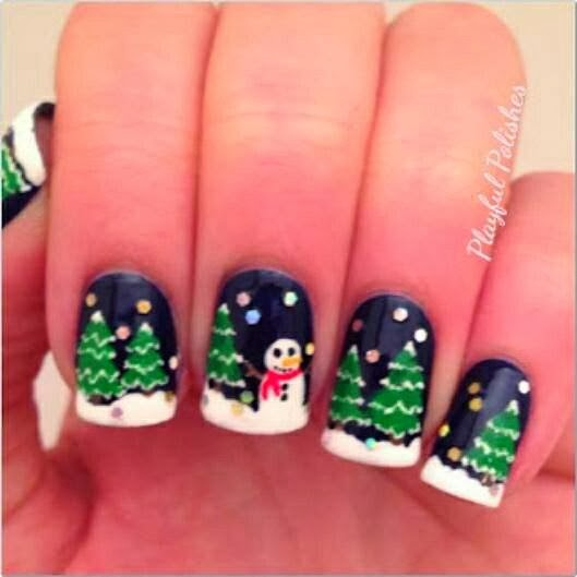Pretty and Cute Christmas Patterned Nails, Love It