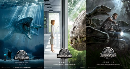 "New posters for ""Jurassic World."""