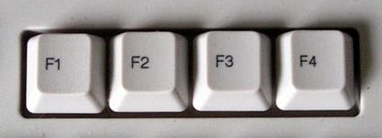 function keys for command prompt