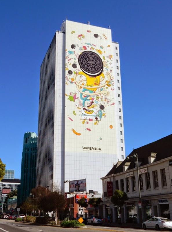 Giant Oreo Wonderfilled billboard