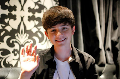 "Greyson saying ""Hi"" to fans at KKBOX in Hong Kong - 2012"