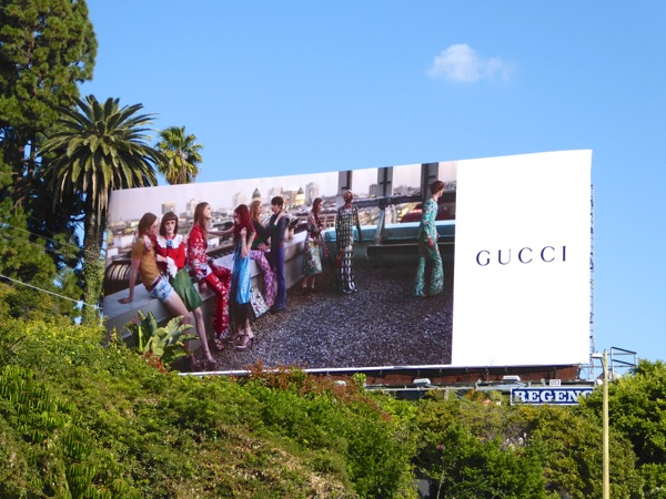 Gucci Spring 2016 fashion billboard