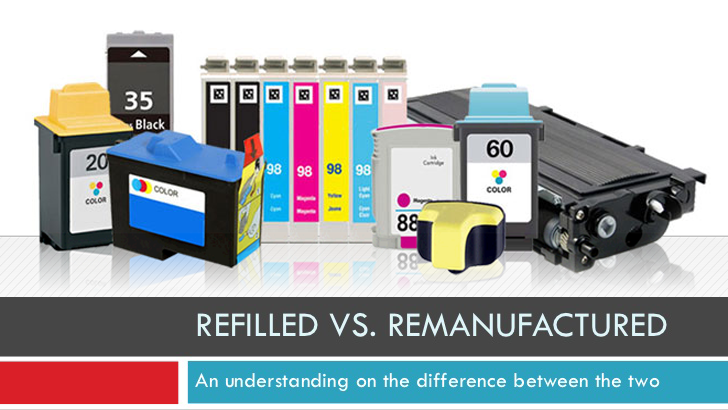 Refilling Ink Cartridges Vs. Buying Re-manufactured Cartridges