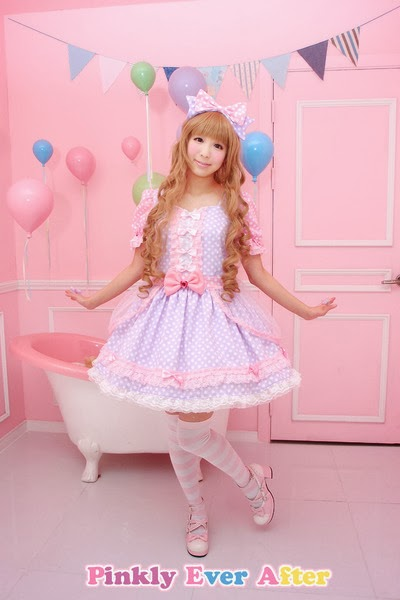 Isn't this pink OTT sweet lolita coordinate by Pinkly Ever After too cute for words?!