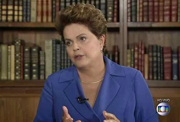 Dilma Rousseff é entrevistada no Jornal Nacional