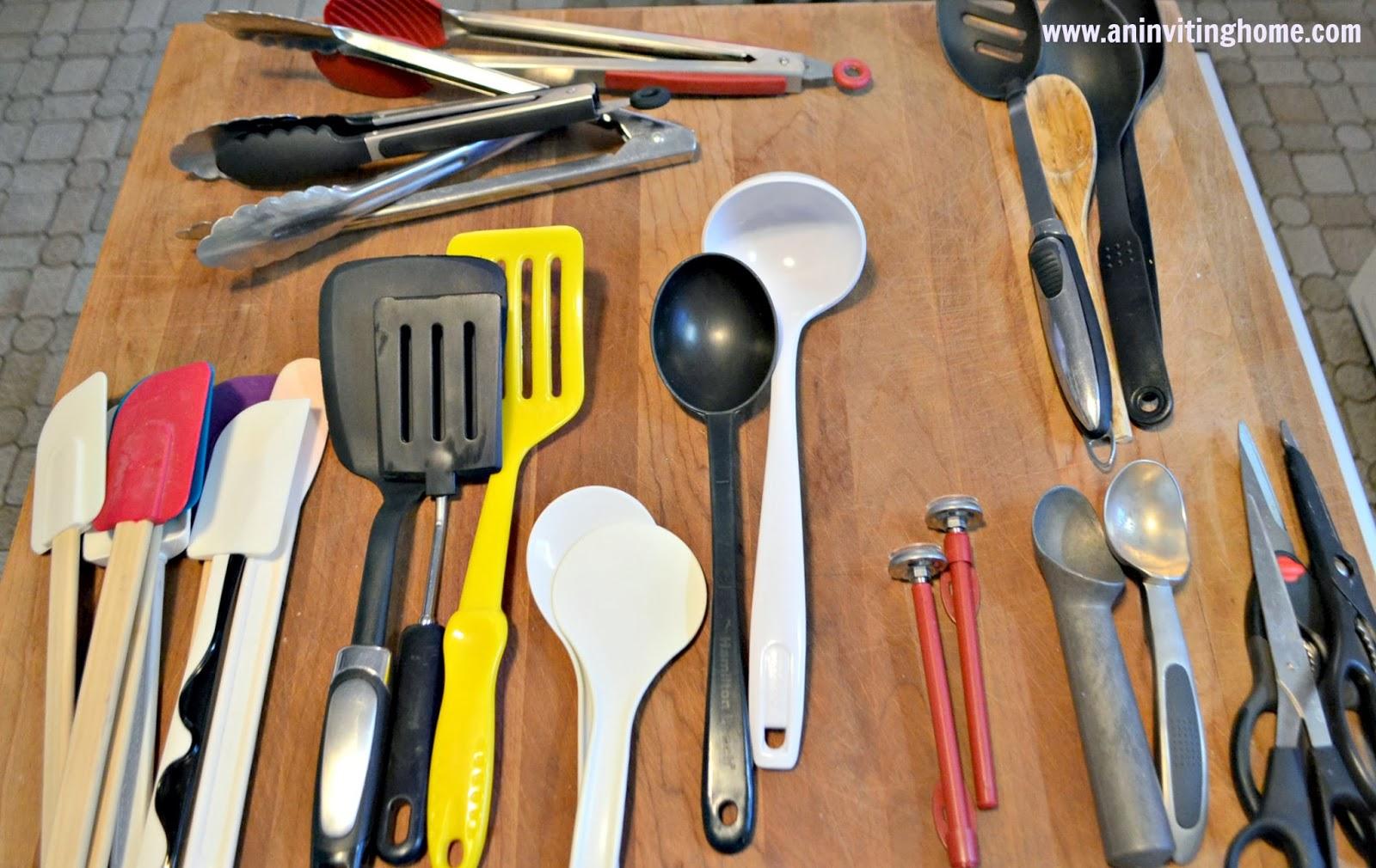 multiple utensils