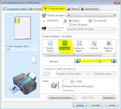 imagen configuración de página