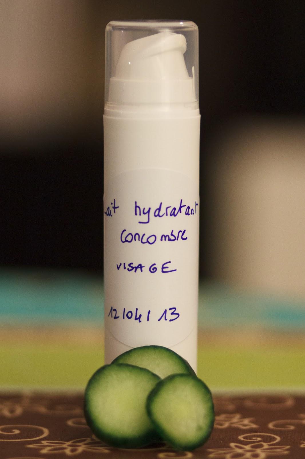mes produits naturels lait hydratant visage au concombre. Black Bedroom Furniture Sets. Home Design Ideas