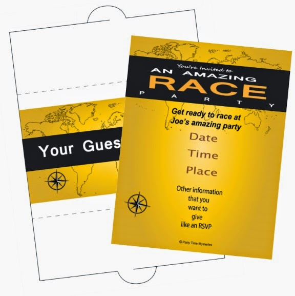 Amazing Race Invitation and Envelope