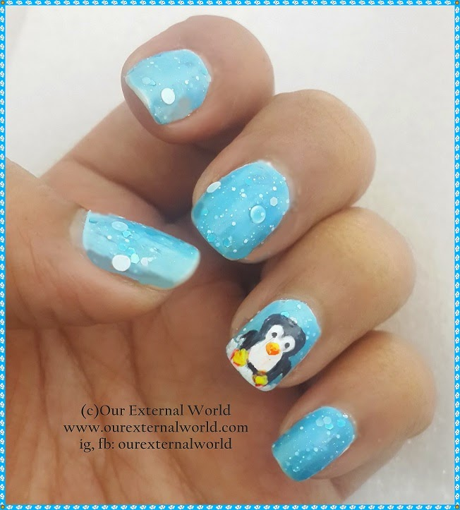 How To Make Penguin Nail Art Tutorial