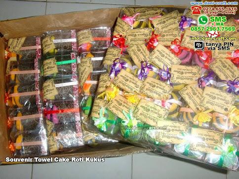 Souvenir Towel Cake Roti Kukus Handuk Mataram