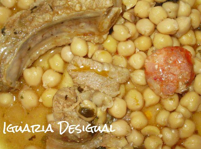 Receita+Alentejana+de+grão+com+carne