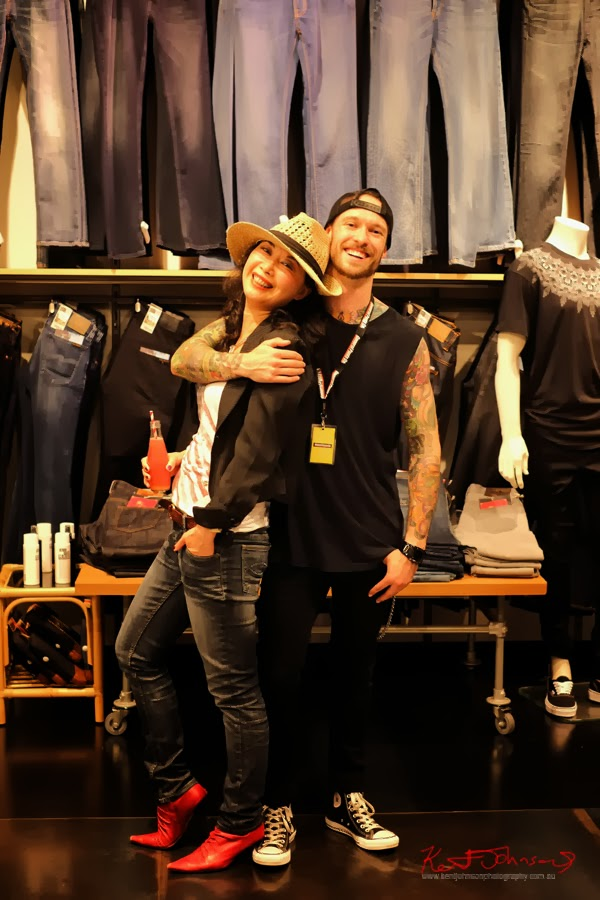 Vivienne and Anders at General pants Bondi junction; General Pants In-Store Kiosk Launch