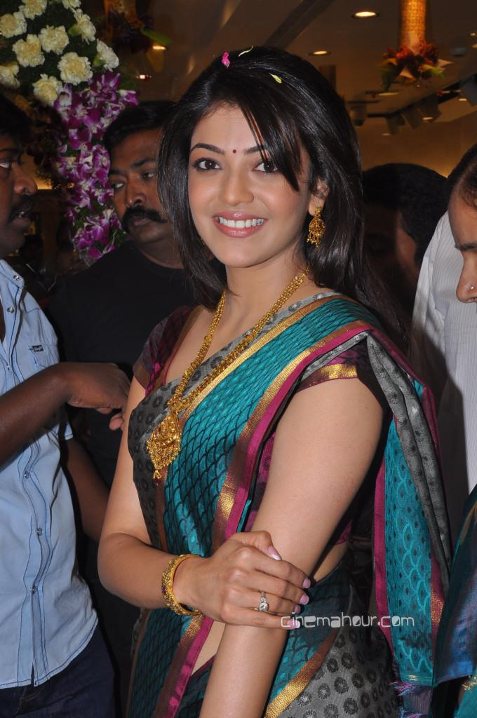 Kajal Agarwal in Designer Saree1 - Kajal Agarwal in Designer Saree - Hot Pics