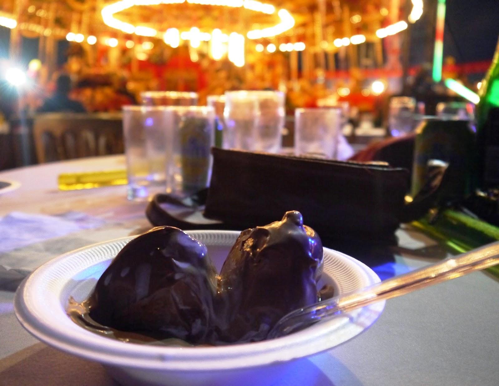 Carters Steam Fair Wedding - Profiteroles for pudding