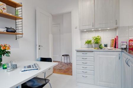 Mi rinc n de sue os una cocina blanca muy bien aprovechada for Cocina 3x3 metros