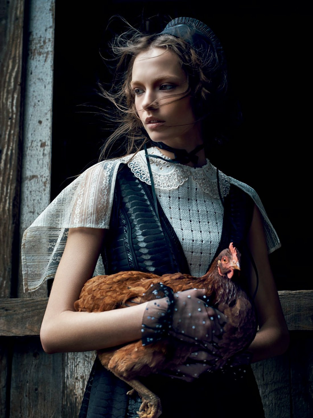 Fashion Model @ Mina Cvetkovic By Nathaniel Goldberg For Vogue Russia March 2015