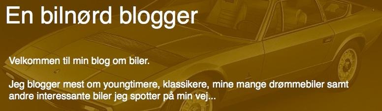 En bilnørd blogger