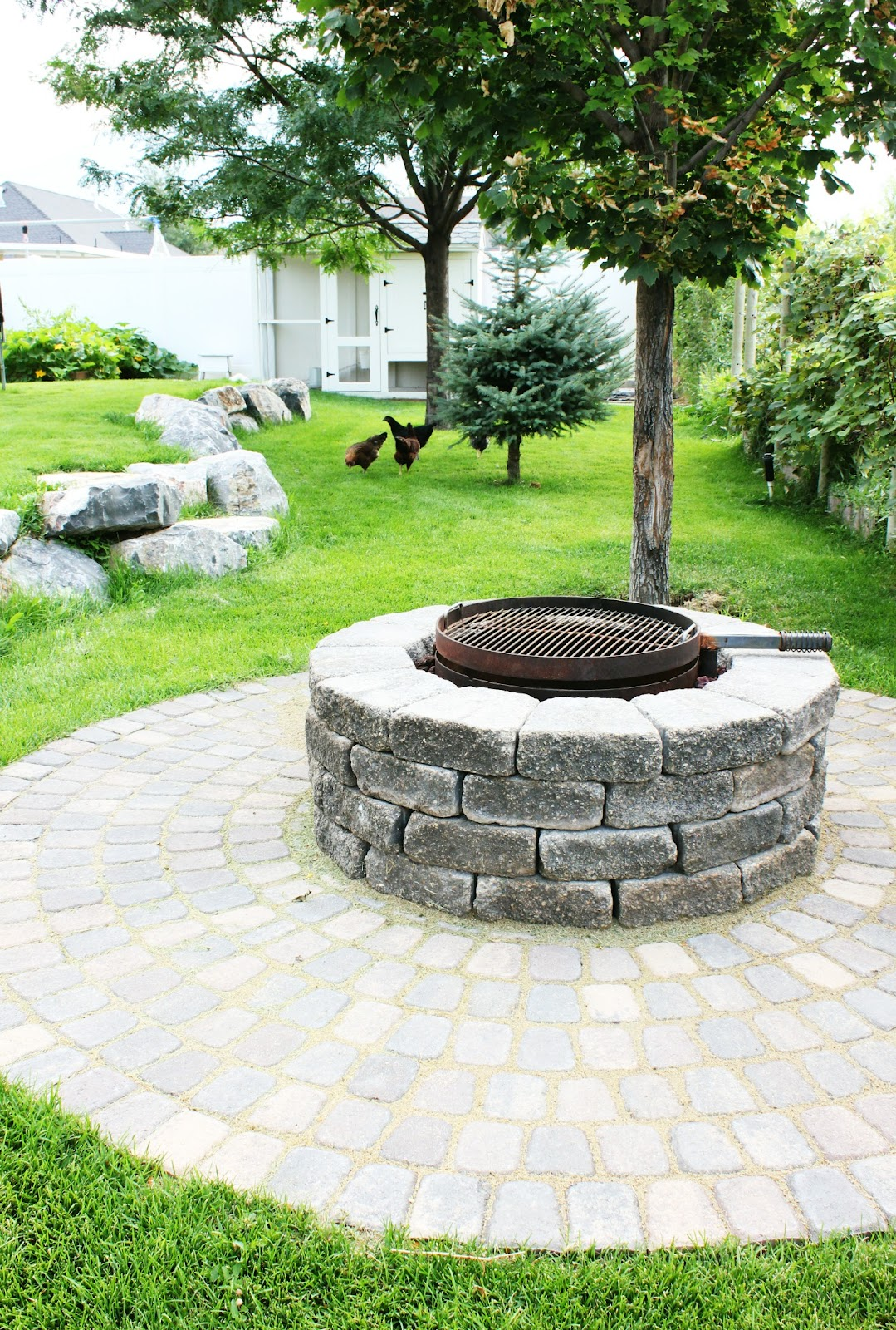 Outdoor Fire Pit On Grass