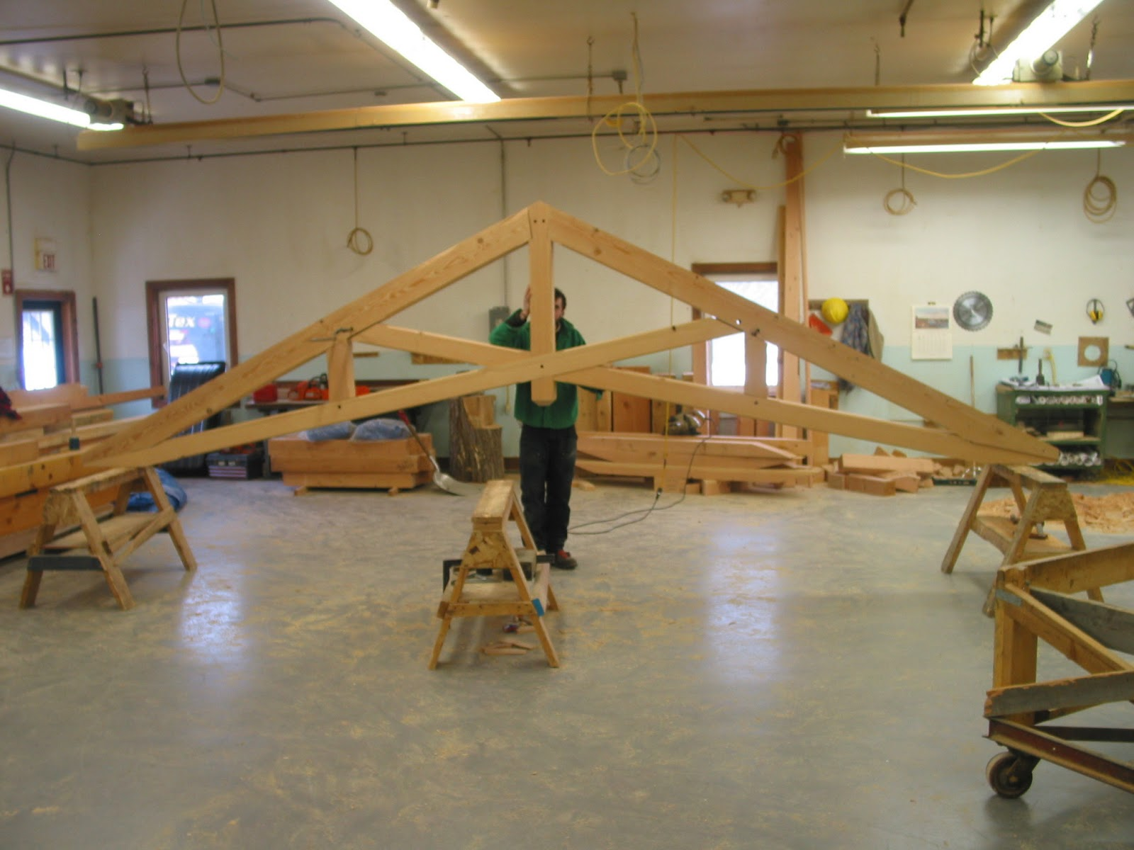 Post and beam sales timber trusses for Timber trusses for sale